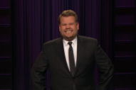 Here Is James Corden's Lame Apology for Kissing Sean Spicer