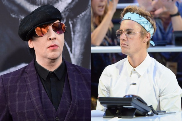 Marilyn Manson reveals texts Justin Bieber sent him about their 'beef'