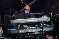 Stevie Wonder Kneels While Performing National Anthem at Formula 1 Race in Texas