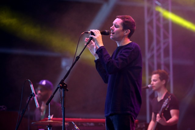 R&B musical duo Rhye performs at the NOS Alive 2017 music festival in Lisbon