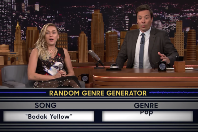 "Miley Cyrus Turned ""Bodak Yellow"" Into a Pop Song on Fallon"