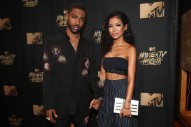 Big Sean Likes to Kiss the Very Detailed Tattoo of His Face on Jhené Aiko's Arm