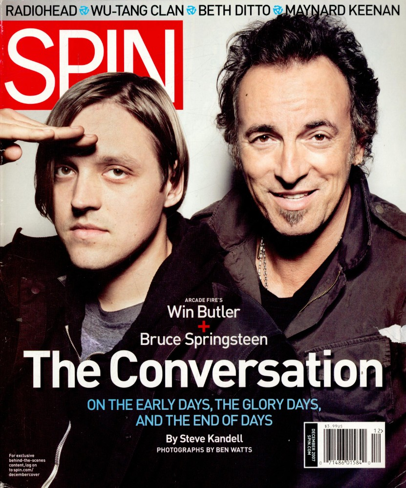 Win Butler and Bruce Springsteen's 2007 Cover Story: On the Early Days, the Glory Days, and the End of Days