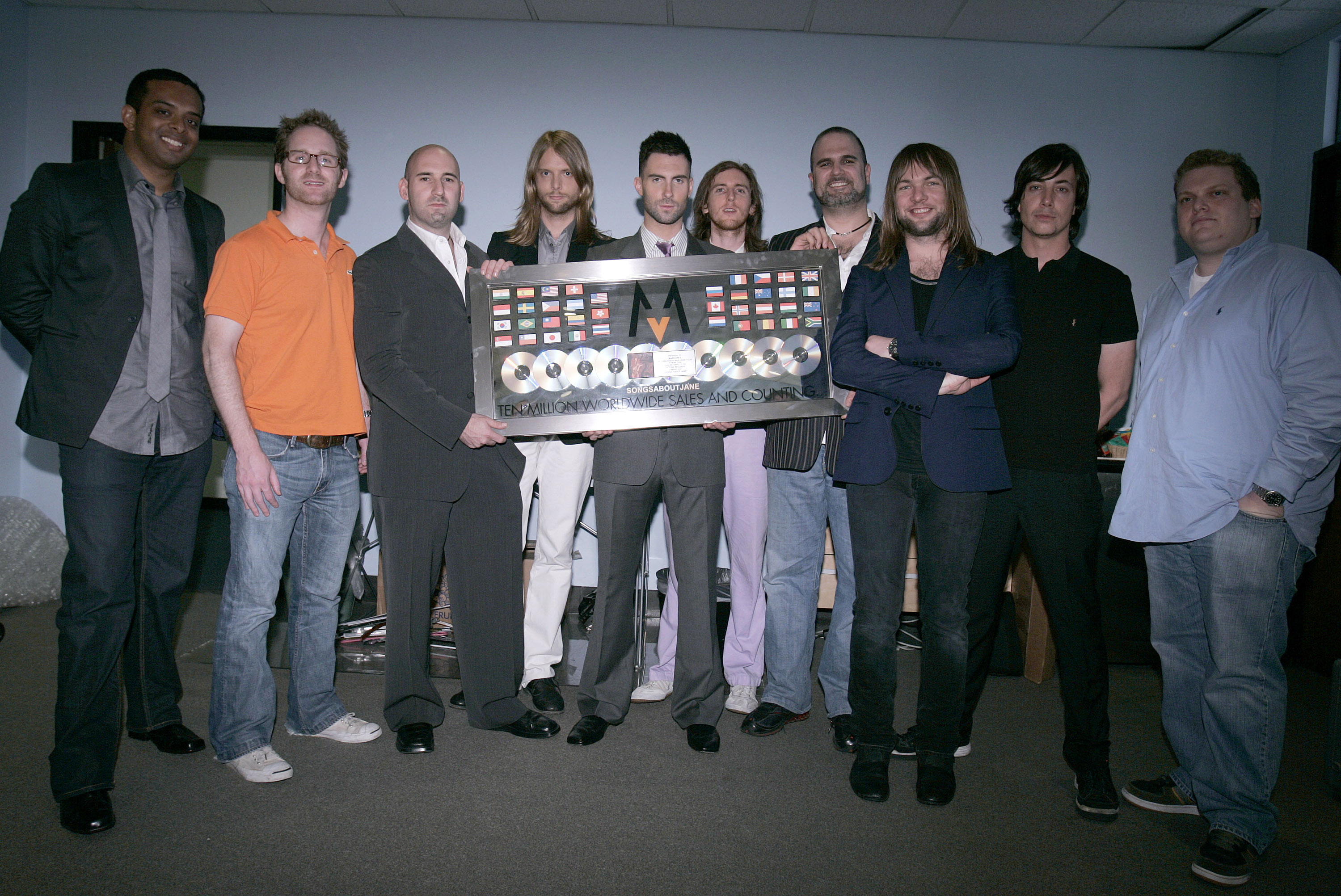 Maroon 5 - 10 Million Records Sold Plaque Presentation