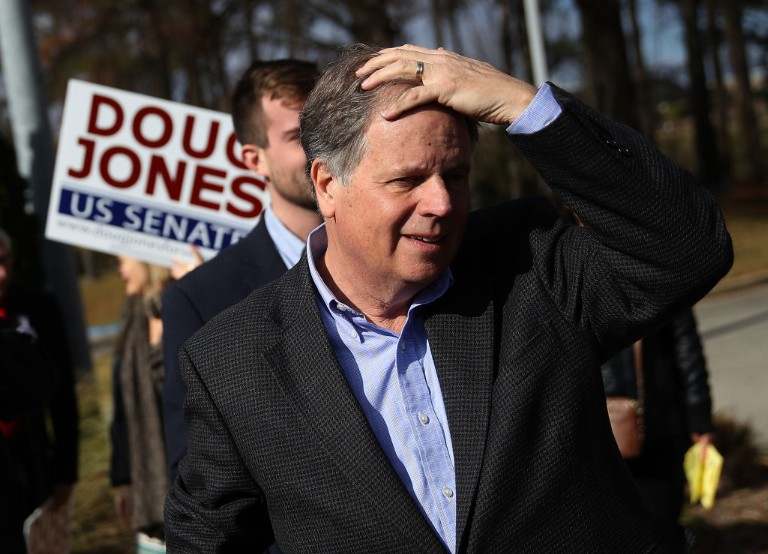 Alabama Senate Candidate Doug Jones Greets Voters On Election Day