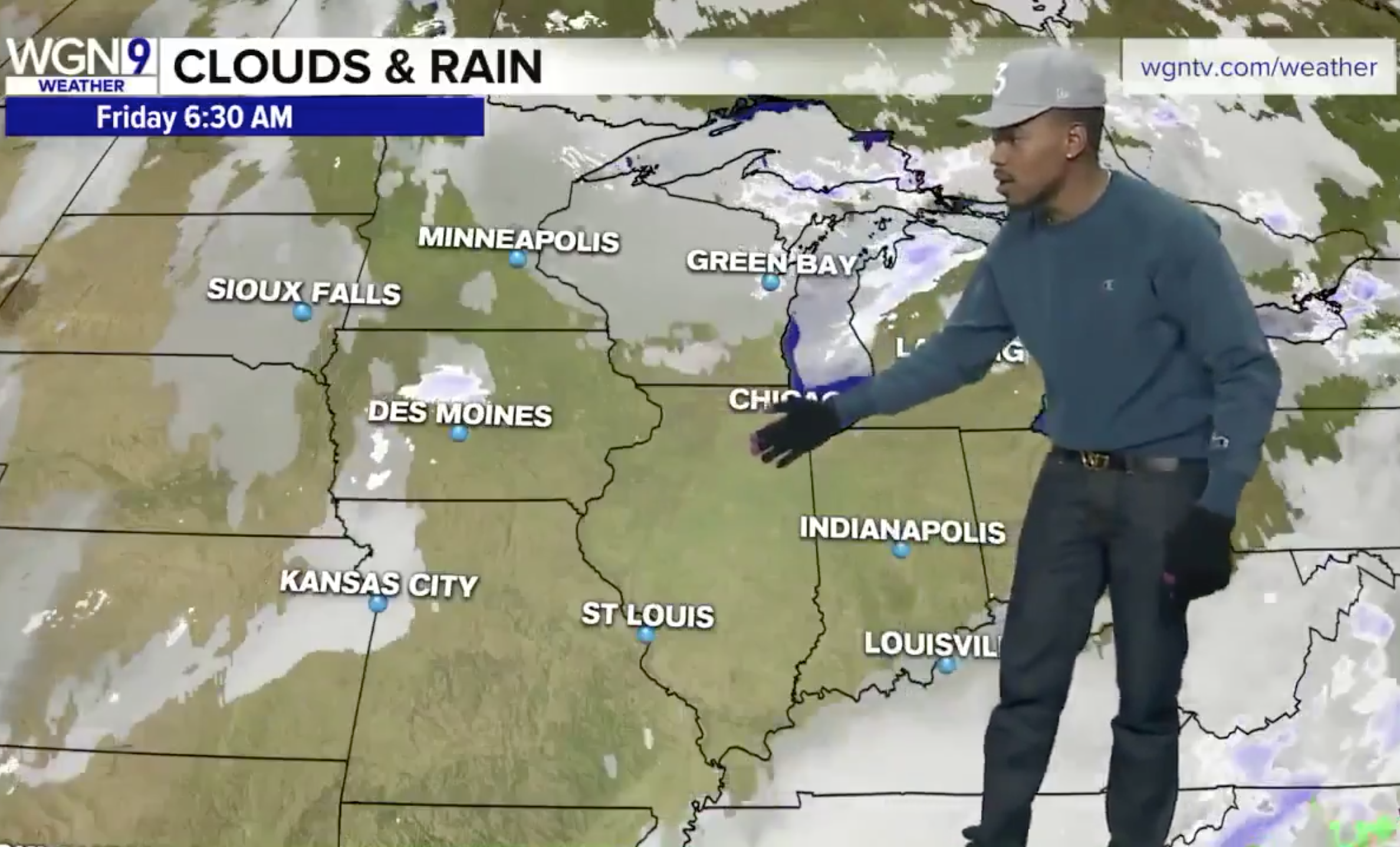 Chance the Rapper Delivers Weather Forecast on Chicago
