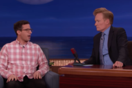 Watch Andy Samberg Discuss Marriage, Fatherhood, and Joanna Newsom&#8217;s Harp Music on <i>Conan</i>