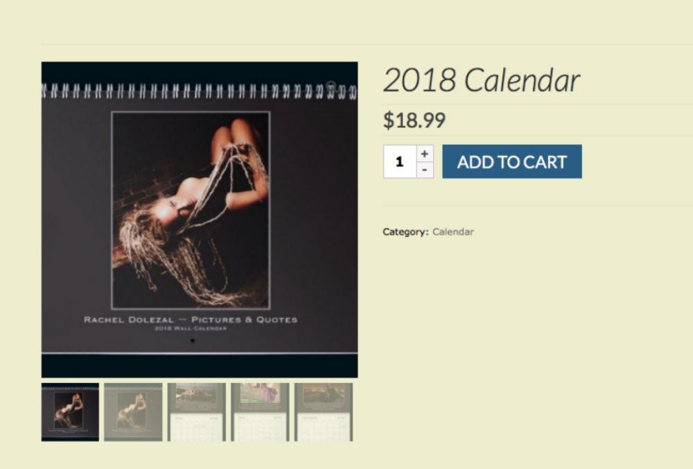 Rachel Dolezal releases 2018 calendar