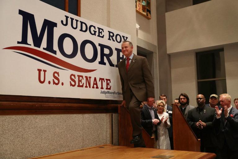 Roy Moore behaving like sore loser on Facebook