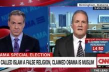 Jake Tapper stuns Roy Moore rep regarding Bible swearing in