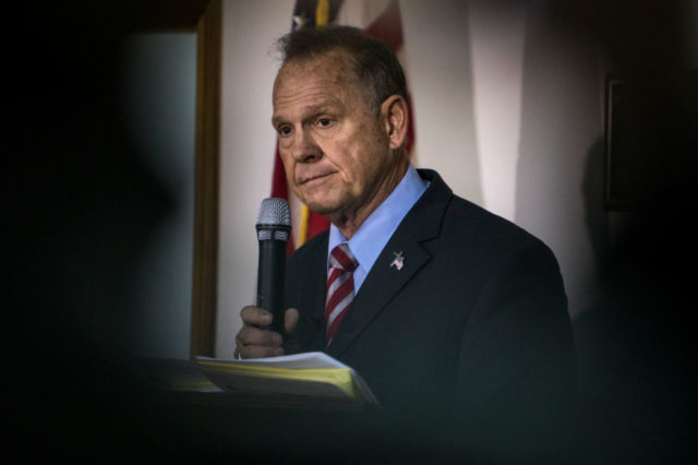 GOP Alabama Senate Candidate Roy Moore Holds Campaign Rally
