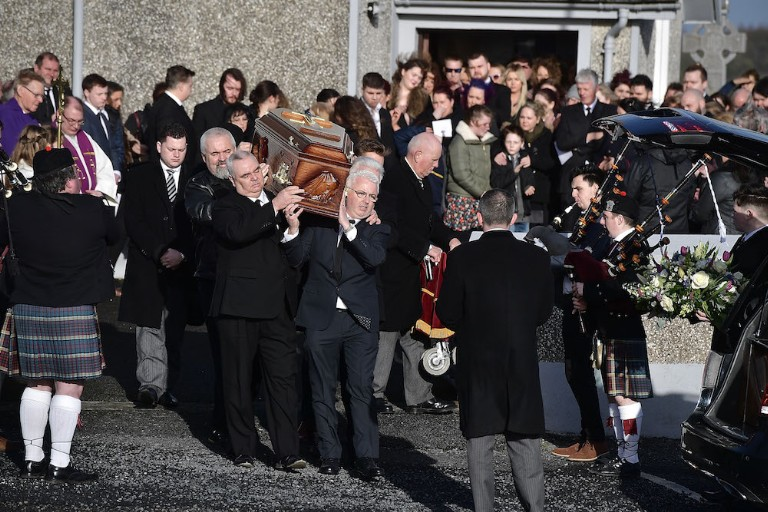 The Funeral Of Cranberries Singer Dolores O'Riordan Takes Place In Limerick
