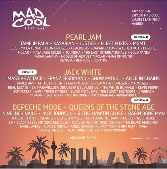 Pearl Jam, Jack White, QOTSA, and Nine Inch Nails to
