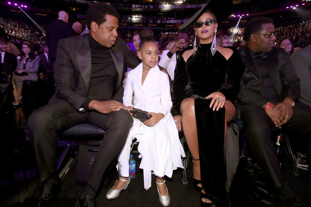 Blue Ivy tells Beyonce and Jay-Z to calm down at The Grammys