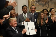 Donald Trump doesn't deny he's racist at MLK event