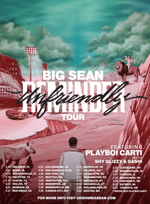 big sean announces north american tour with playboi carti spin