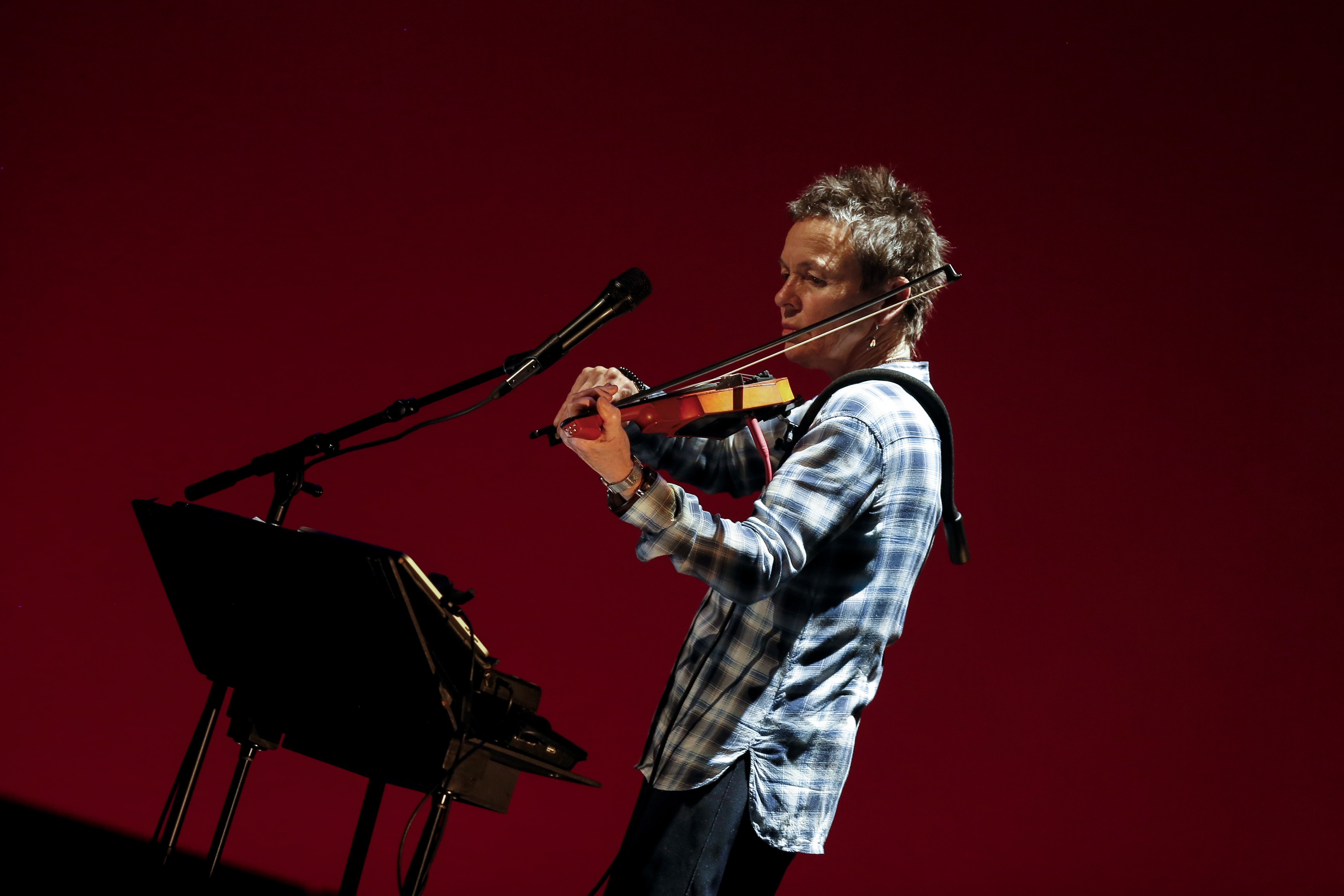 WESTWOOD, CA--MARCH 15, 2014--Laurie Anderson and Kronos Quartet (not pictured) perform