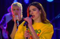 "Watch Dua Lipa Perform ""IDGAF"" With Charli XCX, Zara Larsson, Alma, and MØ"