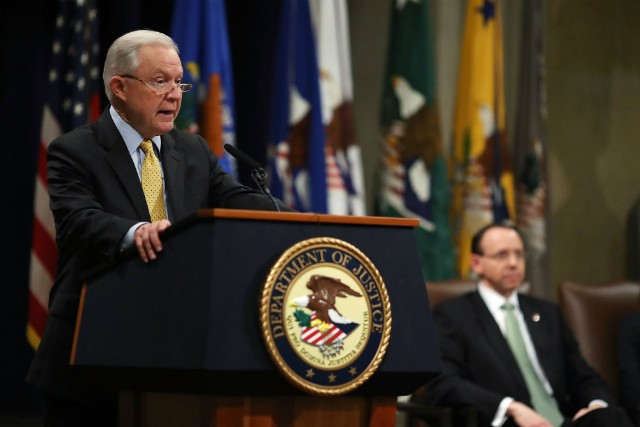 Media frenzy after Sessions notes law enforcement's 'Anglo-American' heritage