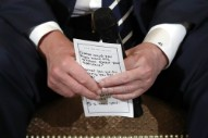 Trump Used a Cheat Sheet to Remind Him to Show Empathy to School Shooting Survivors