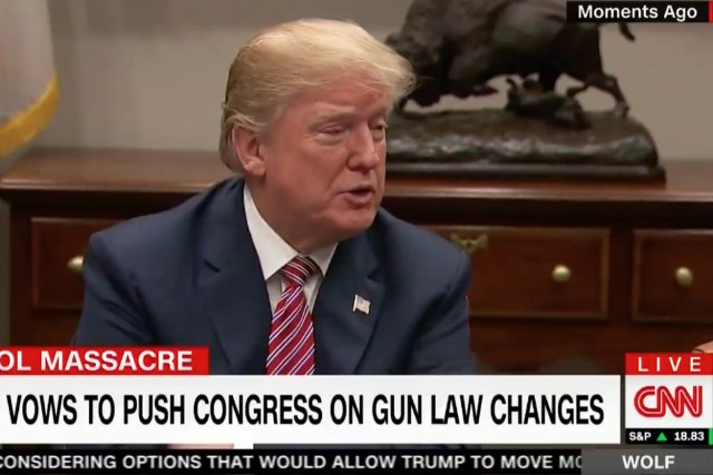 Trump defends NRA amid calls to arm teachers