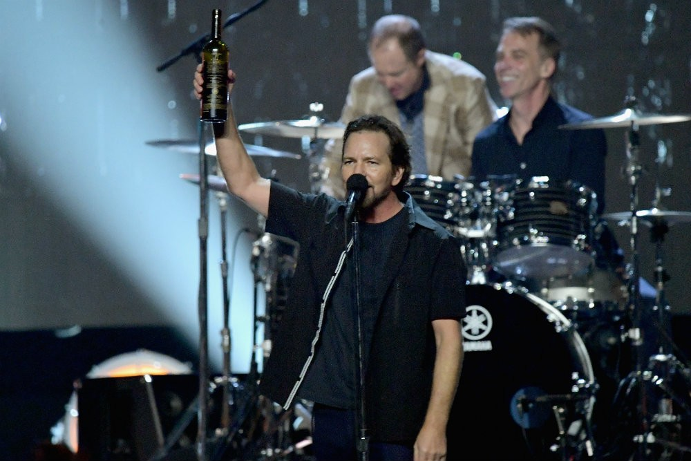 "Chad Smith, Eddie Vedder, Brandi Carlisle, and Will Ferrell cover ""Personal Jesus"""