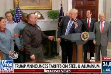 Trump Tells Steelworker His Dad Is Looking Down on Him From Heaven