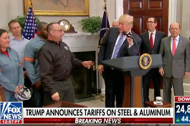 Trump Awkwardly Assumes Steelworker's Father Is Dead. He Isn't.