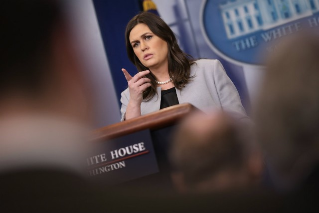 Trump's press secretary mentions ties to Stormy legal battle