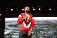 "Nipsey Hussle Performs ""FDT"" in Front of Kanye's MAGA Hat Photo: Watch"