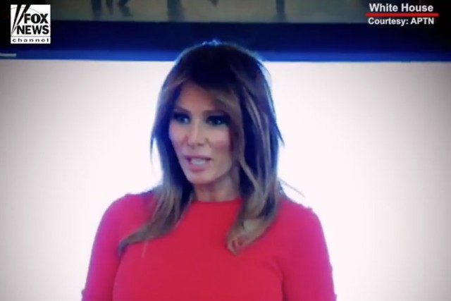 Melania Trump's Fox News Water Spill Video