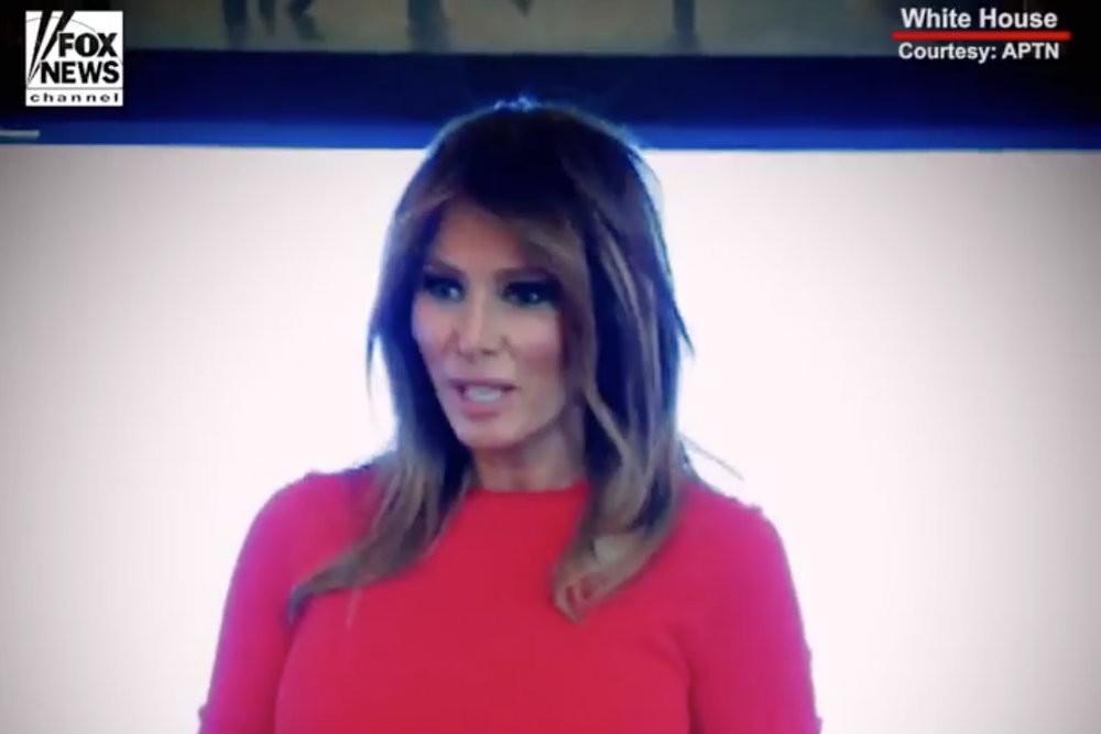 Melania Trump's Fox News Water Spill Video