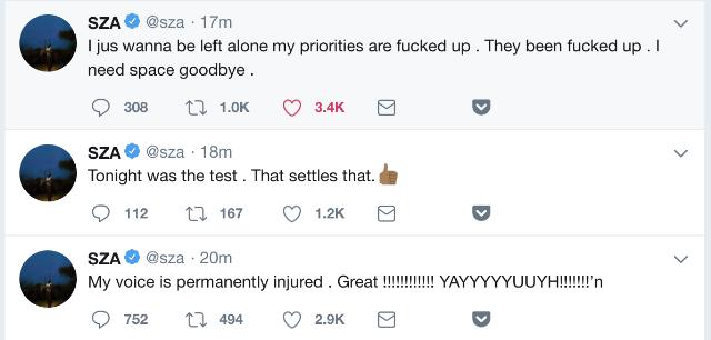 sza tweets