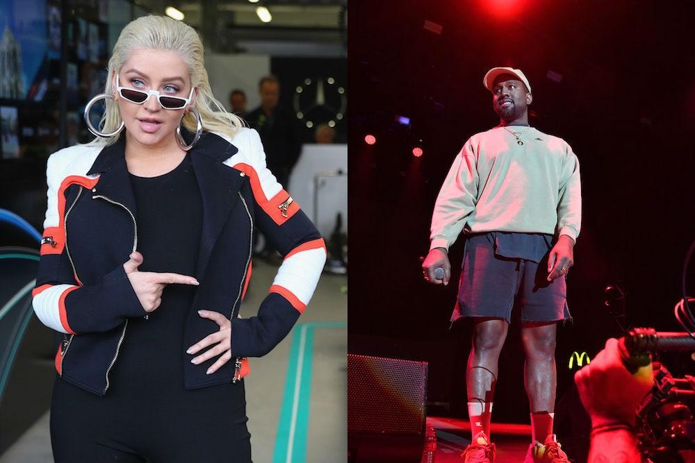 Christina Aguilera and Kanye West