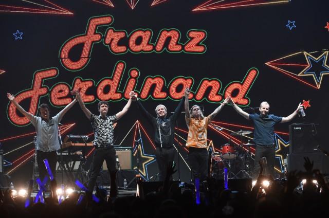 franz ferdinand performs on kimmel