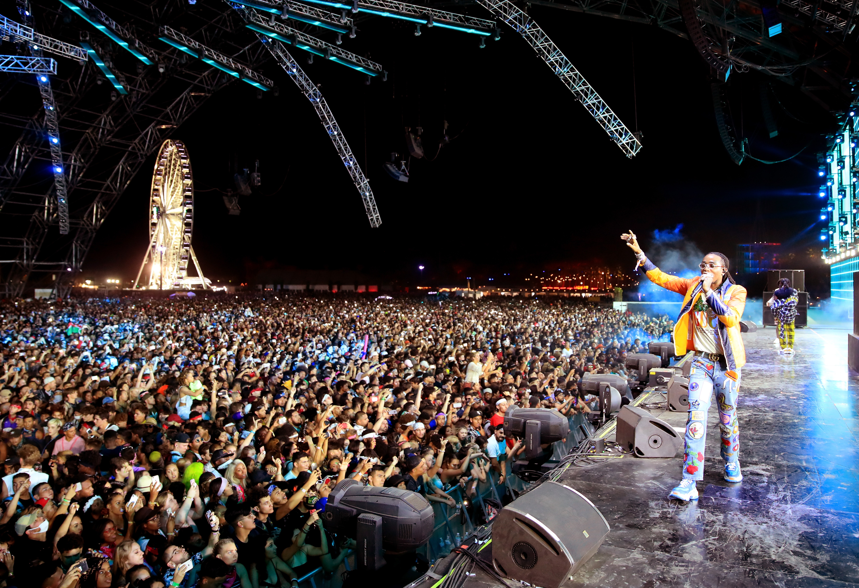 Quavo performs at Coachella