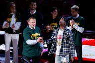 Watch Travis Scott Honor Survivors of Texas School Shooting at Houston Rockets Game