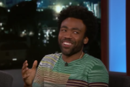 Watch Donald Glover Discuss &#8220;This Is America,&#8221; <i>Star Wars</i>, Lauryn Hill, and Stevie Wonder on <i>Jimmy Kimmel</i>