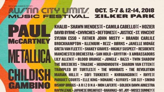 Paul McCartney to headline 2018 Austin City Limits Music Festival in October