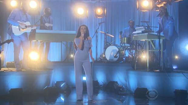 Kacey Musgraves performs on James Corden