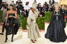 costume institute gala 2018 rihanna madonna musicians stars red carpet photos