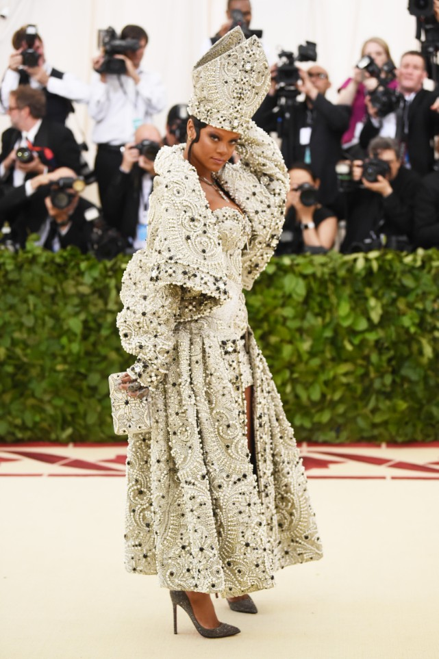 rihanna is the pope of met gala 2018 spin