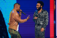 "Jamie Foxx Awkwardly Pressured Donald Glover Into Performing ""This Is America"" at Last Night's BET Awards: Watch"
