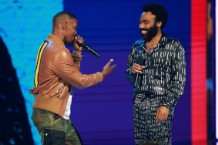 donald glover & jamie foxx - bet awards