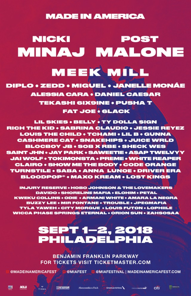 new artists added to made in america