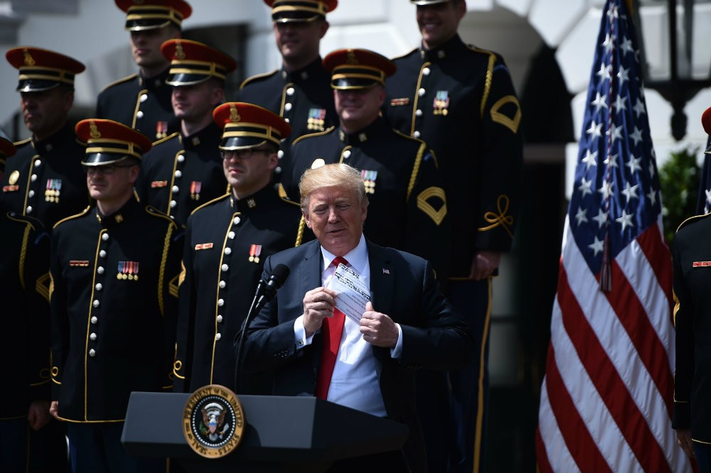 Trump Doesn't Know the Words to God Bless America at Eagles Rally