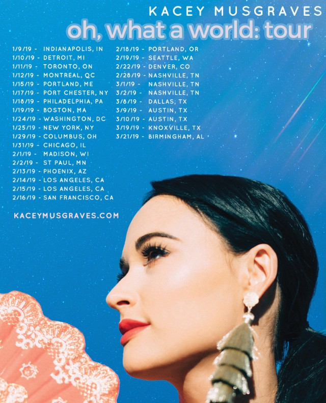 High Horse Kacey Musgraves: Kacey Musgraves North American Tour Dates