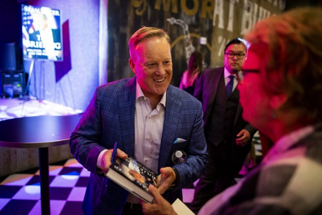 Sean Spicer's Book Tour Is a Disaster