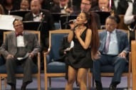 "Watch Ariana Grande Perform ""(You Make Me Feel Like) A Natural Woman"" at Aretha Franklin's Funeral"