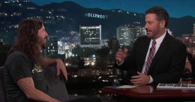 Dave Grohl Jimmy Kimmel Live